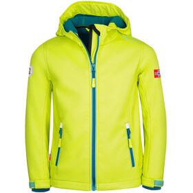 TROLLKIDS Trollfjord Giacca Bambino, lime/dolphin blue/petrol